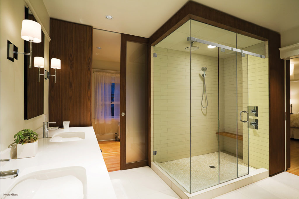 Hafele\'s Hydro 80 Glass Sliding System for Shower Cubicles